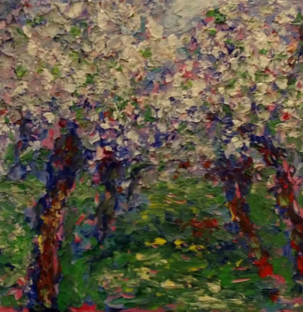 """Apple Orchard"" original fine art by S. Lynne Price"