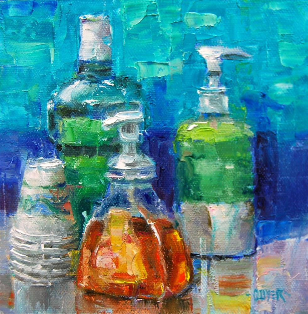 """""""Mint, Lime and Peach!"""" original fine art by Julie Ford Oliver"""