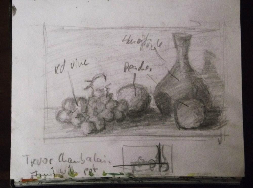 """From Michaels sketch book #1"" original fine art by Michael Sason"