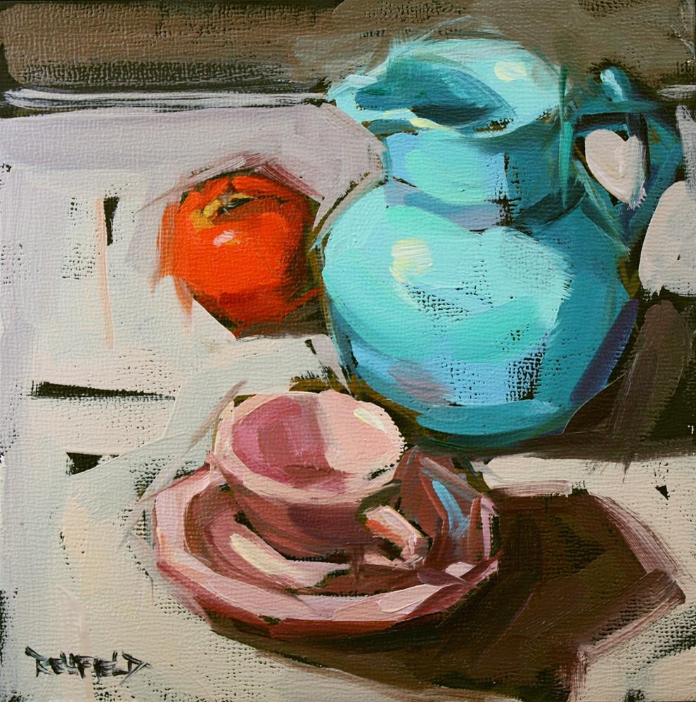 """""""The Blue Pitcher and Friends"""" original fine art by Cathleen Rehfeld"""