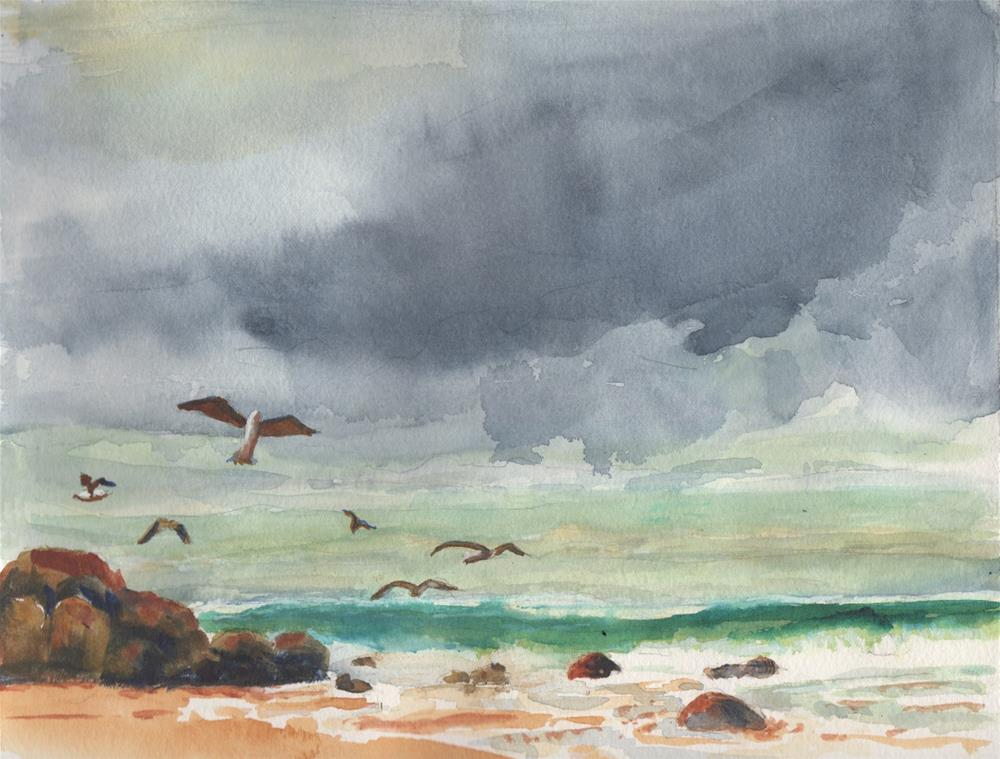 """""""Storm Clouds"""" original fine art by Bunny Griffeth"""