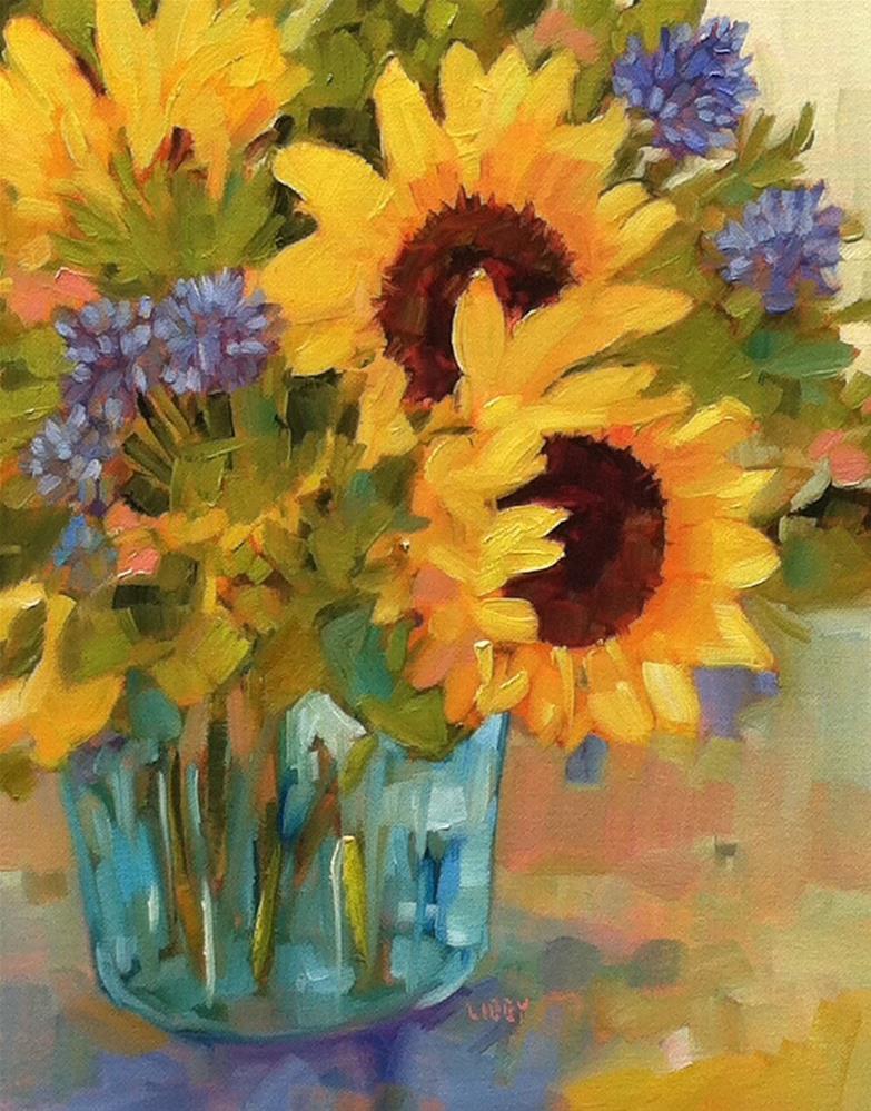 """""""June Arrangement"""" original fine art by Libby Anderson"""