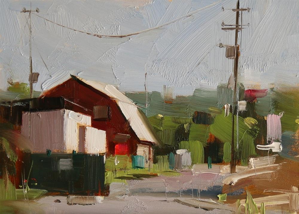 """An Alley"" original fine art by Qiang Huang"