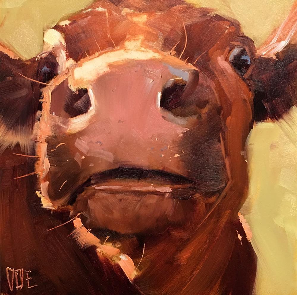 """#378 Gustav Cowbert"" original fine art by Patty Voje"