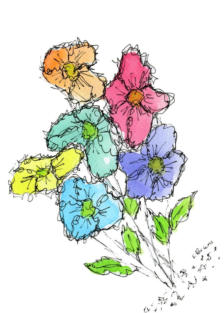 """""""Tilted Rainbow Bouquet"""" original fine art by Kali Parsons"""