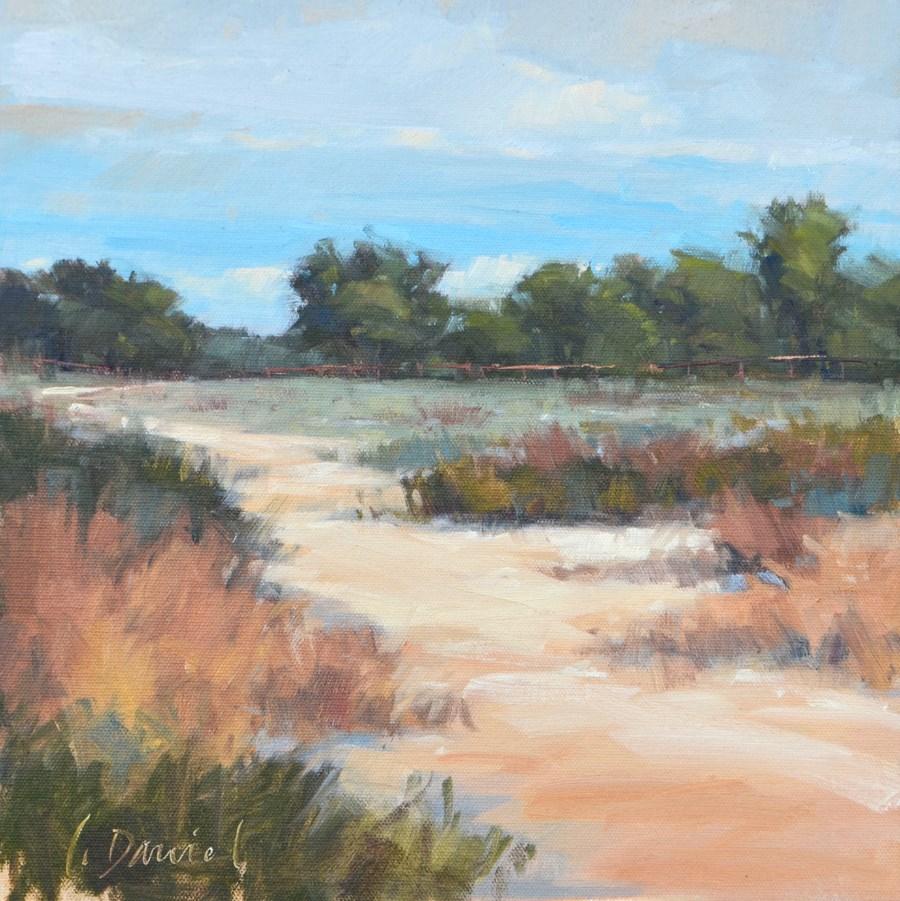 """""""Ranch Path - En Plein Air Texas!"""" original fine art by Laurel Daniel"""