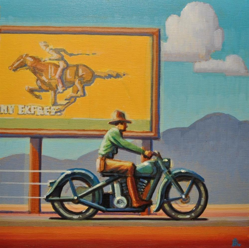 """Pony Express"" original fine art by Robert LaDuke"