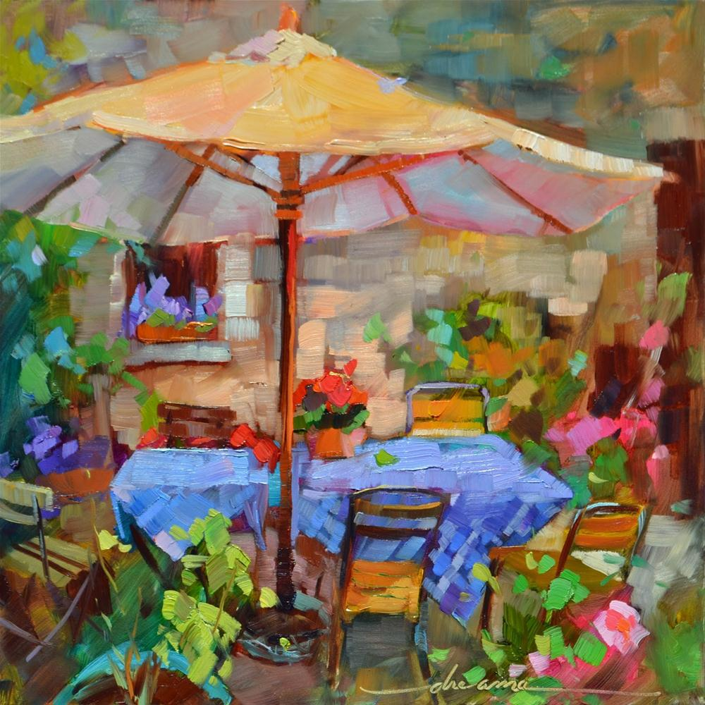 """""""Shades of France"""" original fine art by Dreama Tolle Perry"""