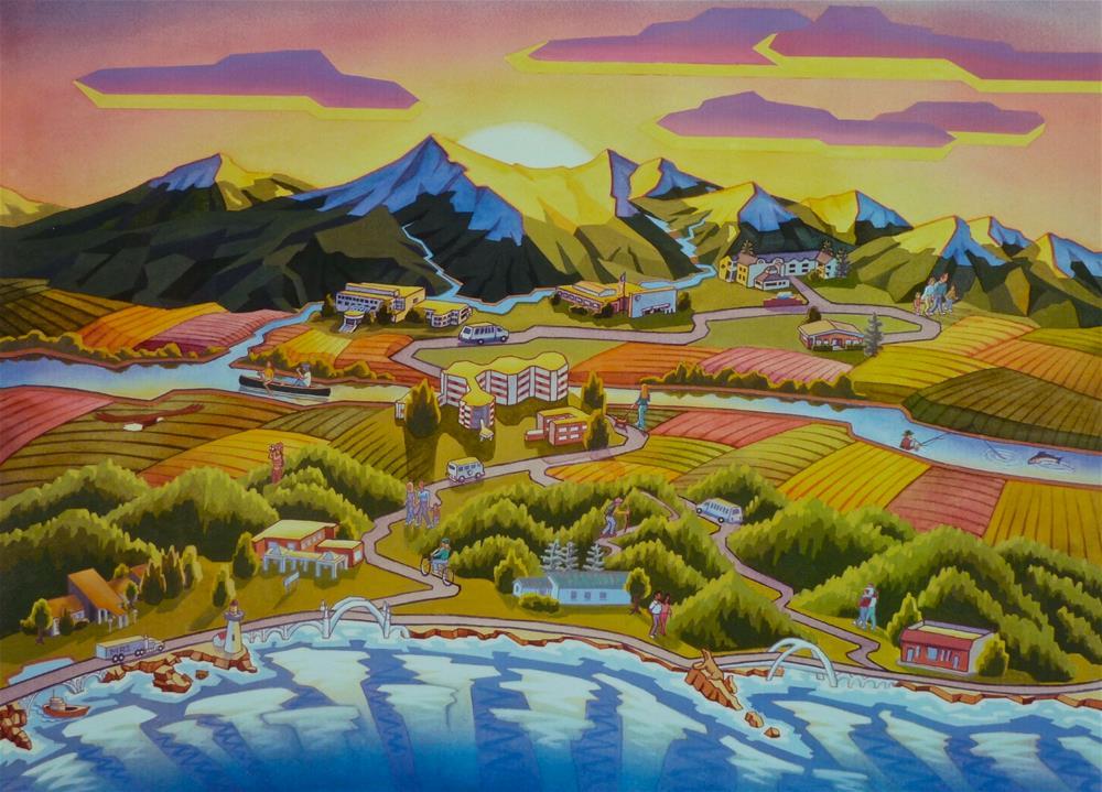 """From Coast to Cascades"" original fine art by Mark Allison"