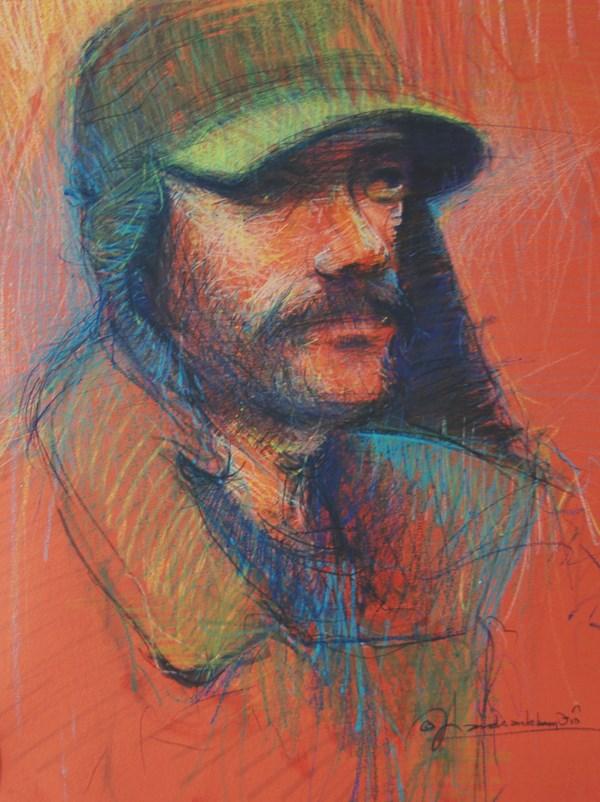 """Study for The Face of Homelessness, Earls Court"" original fine art by Adebanji Alade"