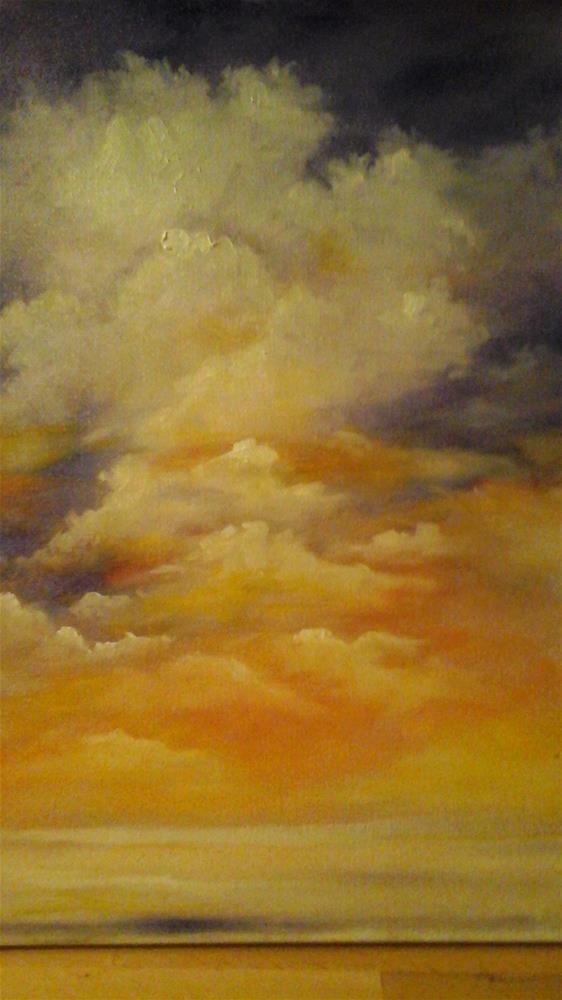 """""""Glorious Clouds"""" original fine art by Sue Lorenz"""