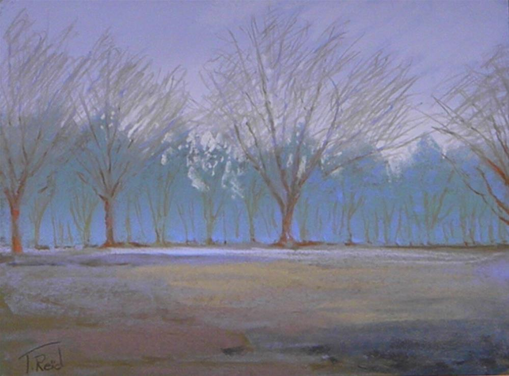 """""""Company in the fog#2"""" original fine art by Toby Reid"""