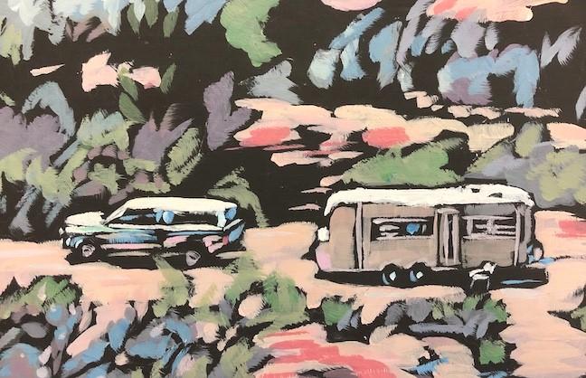 """South Eden"" original fine art by Kat Corrigan"