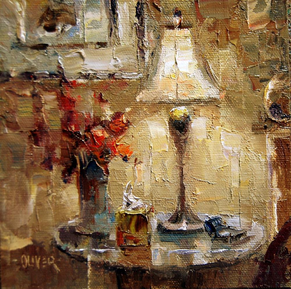 """""""Bedside Light"""" original fine art by Julie Ford Oliver"""
