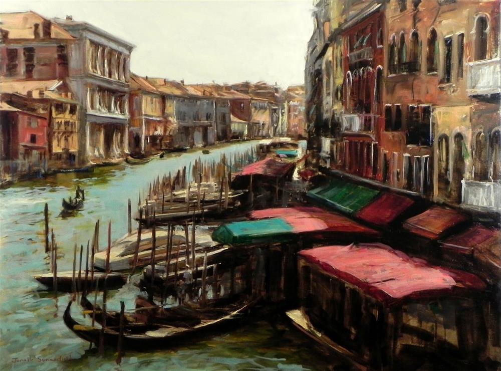 """""""View From the Rialto Bridge"""" original fine art by Jonelle Summerfield"""