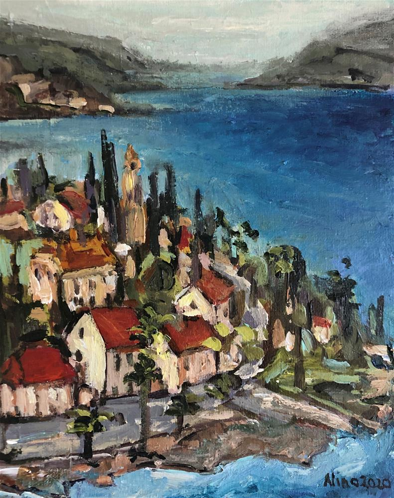 """Croatia"" original fine art by Alina Vidulescu"