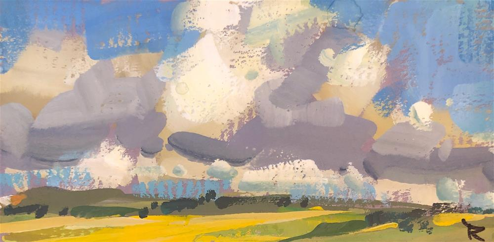 """Cloud Study"" original fine art by Cathleen Rehfeld"