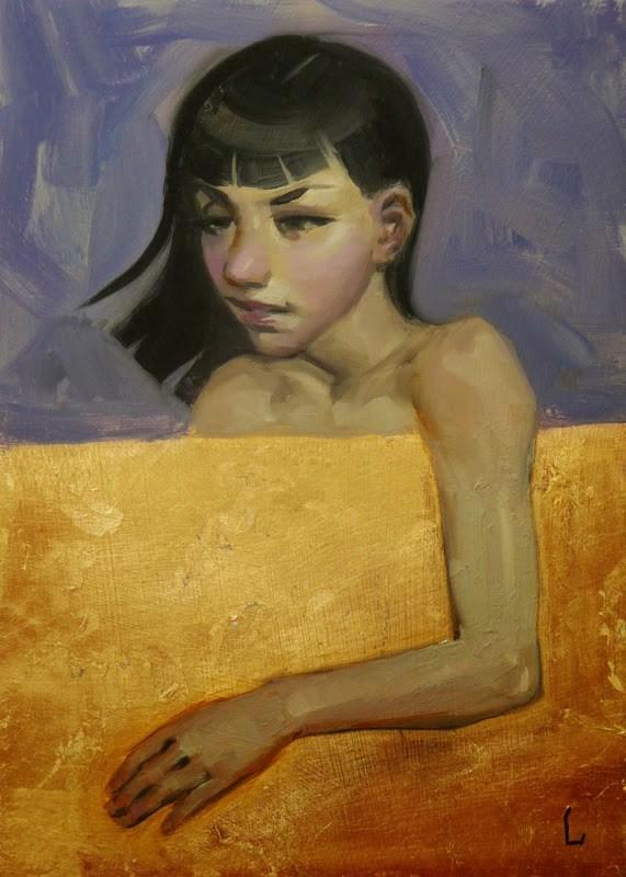 """""""Cover"""" original fine art by John Larriva"""