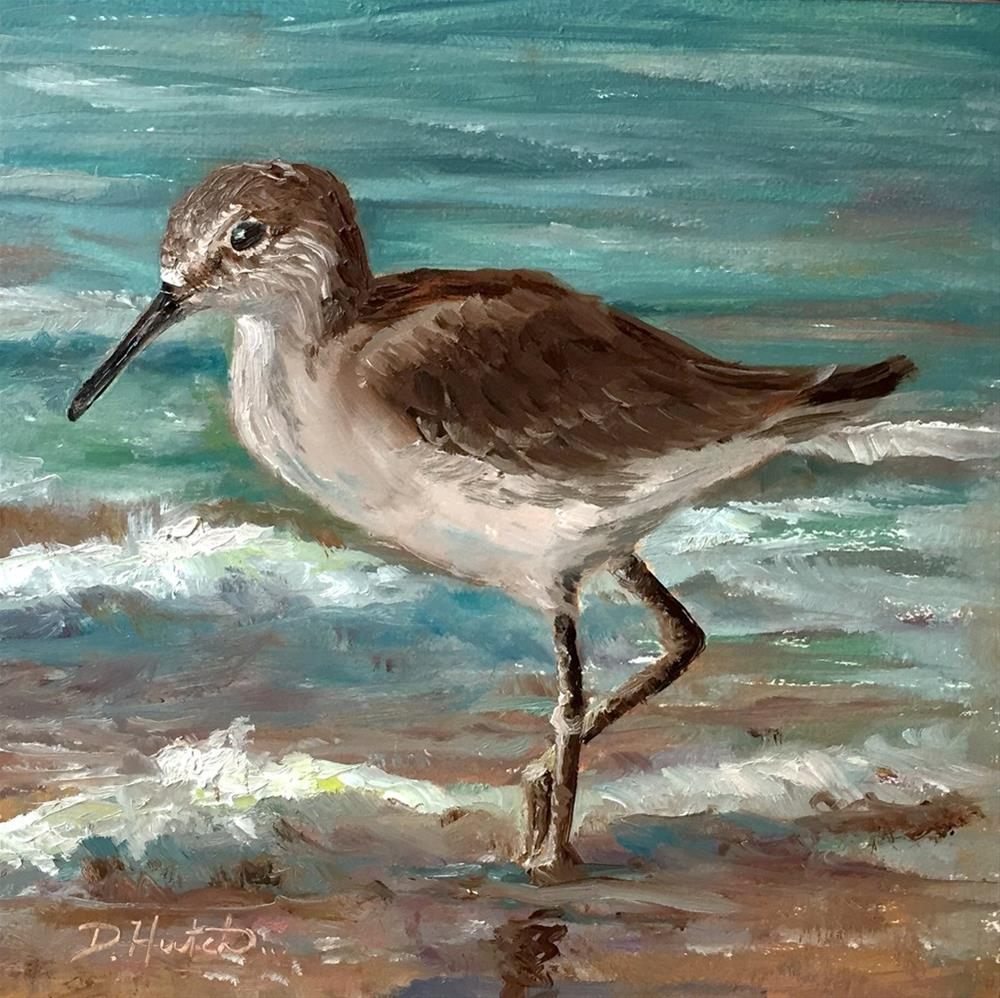 """Sandpiper 2"" original fine art by Diane Hutchinson"