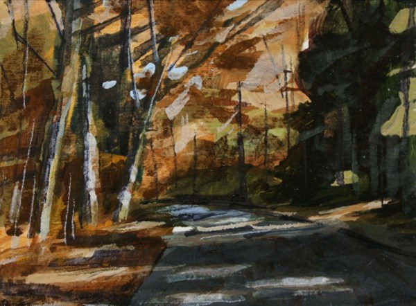 """Chestnut Ridge Park"" original fine art by Chris Breier"