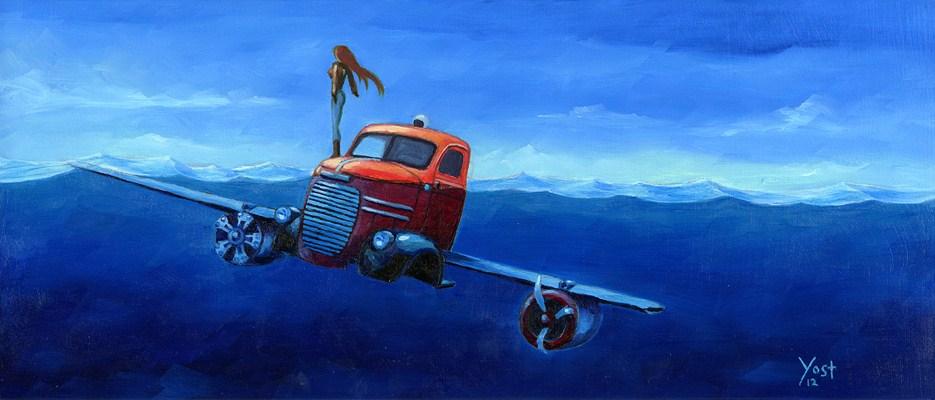 """Non Aerial Weirdo"" original fine art by Matt Yost"
