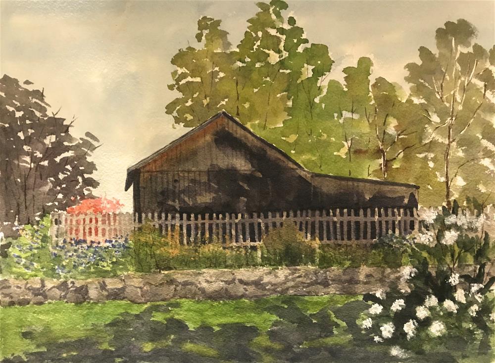 """""""cottage garden"""" original fine art by Betty Argiros"""