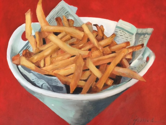 """No Ketchup"" original fine art by Jini James"