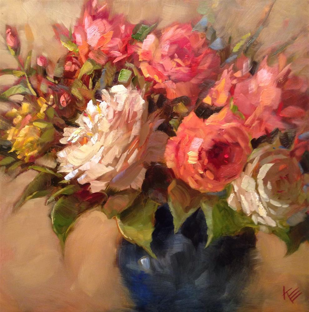 """Garden Roses"" original fine art by Krista Eaton"