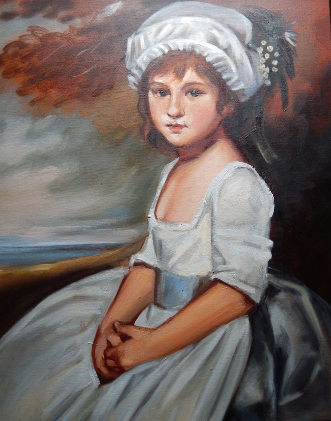 """Copy, Miss Martindale by George Romney"" original fine art by Megan Schembre"