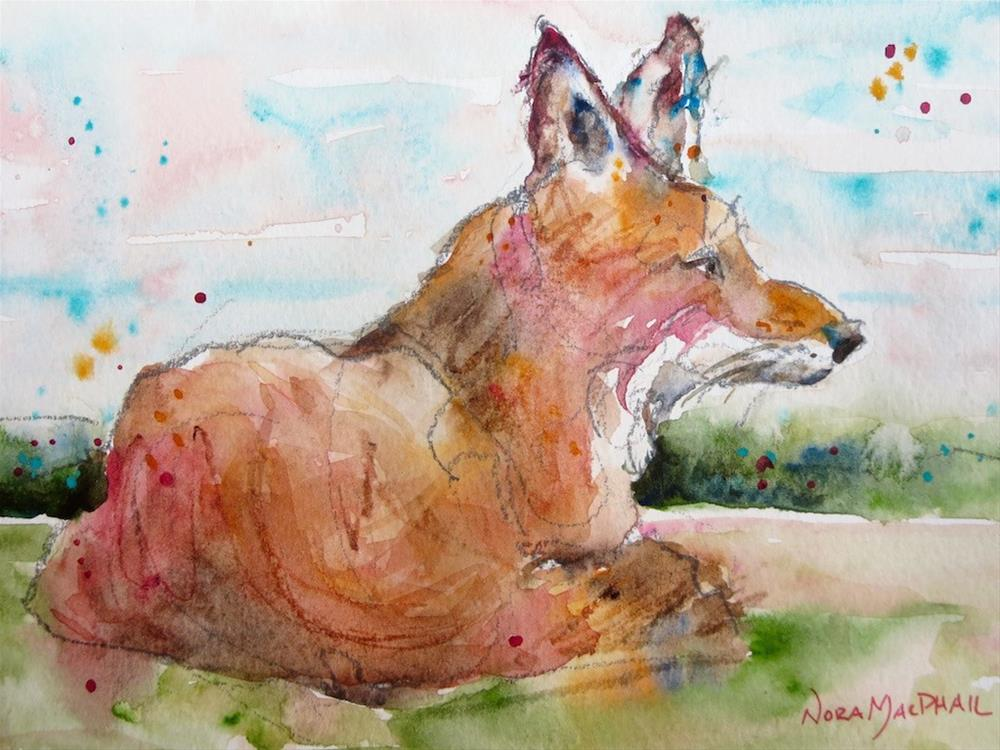 """""""distant call"""" original fine art by Nora MacPhail"""