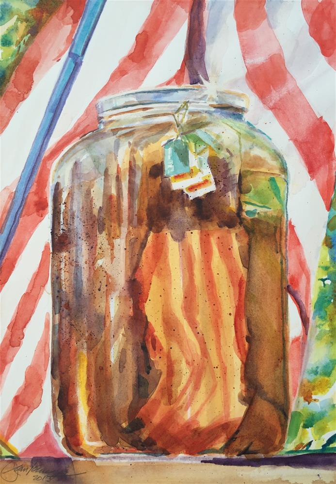 """Late Summer Sun Tea"" original fine art by Jean Krueger"