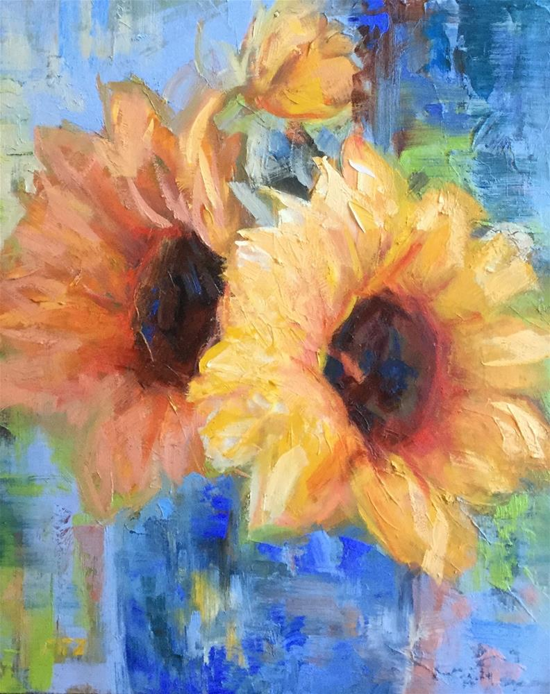 """Turn Your Face to the Sun"" original fine art by Charlotte Fitzgerald"