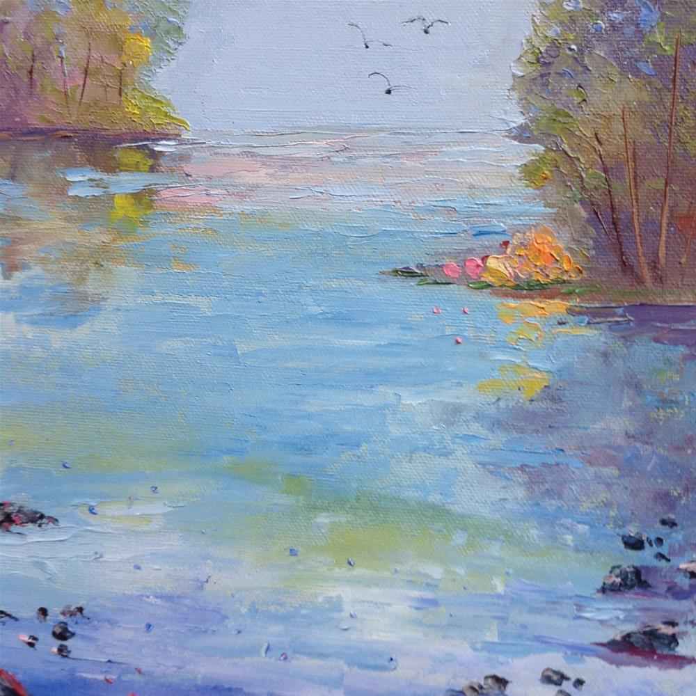 """The White River"" original fine art by Rose Brenner"