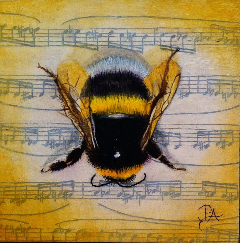 """Insect Music II: Flight of the Bumblebee"" original fine art by Patti Adams"