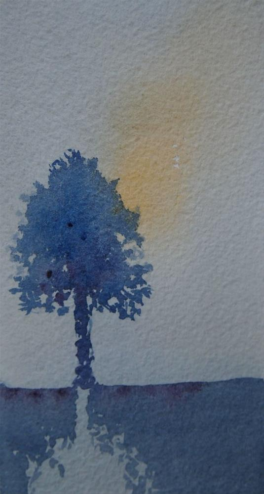 """Tree At Dusk"" original fine art by Amy Bryce"