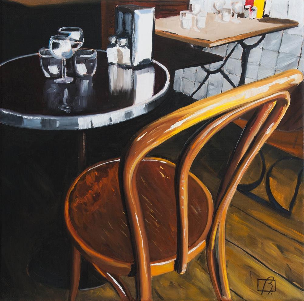 """Cafe Cler I"" original fine art by Andre Beaulieu"