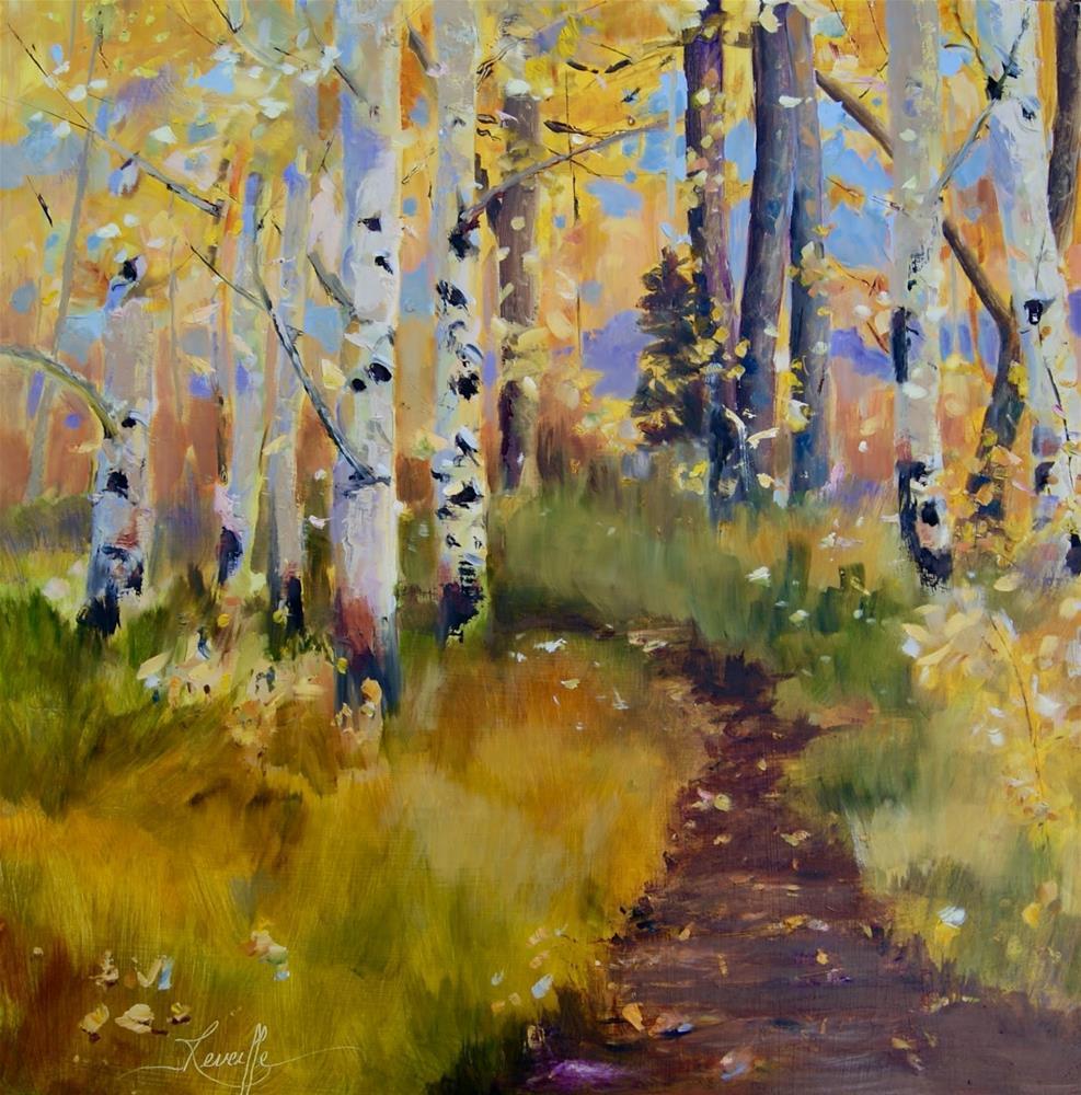 """A Walk in Victor,"" original fine art by Reveille Kennedy"