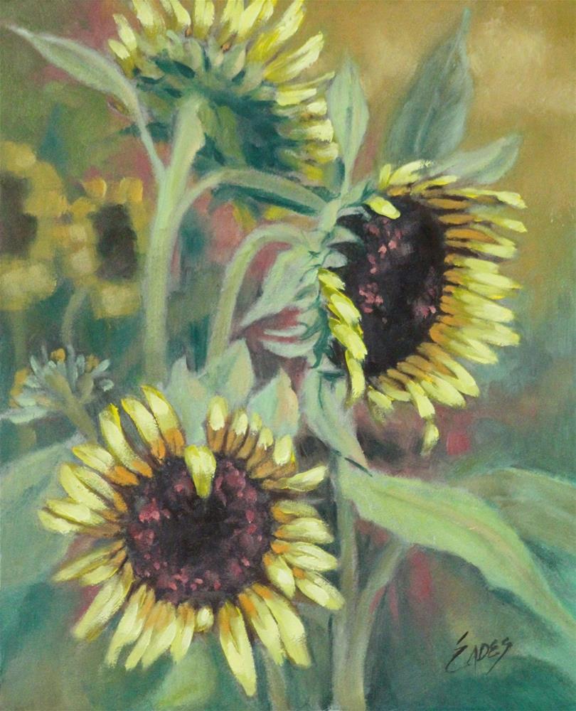 """Sunflower Field"" original fine art by Linda Eades Blackburn"