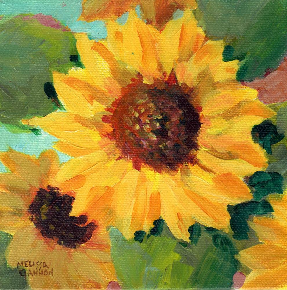 """Sunflower Stars"" original fine art by Melissa Gannon"