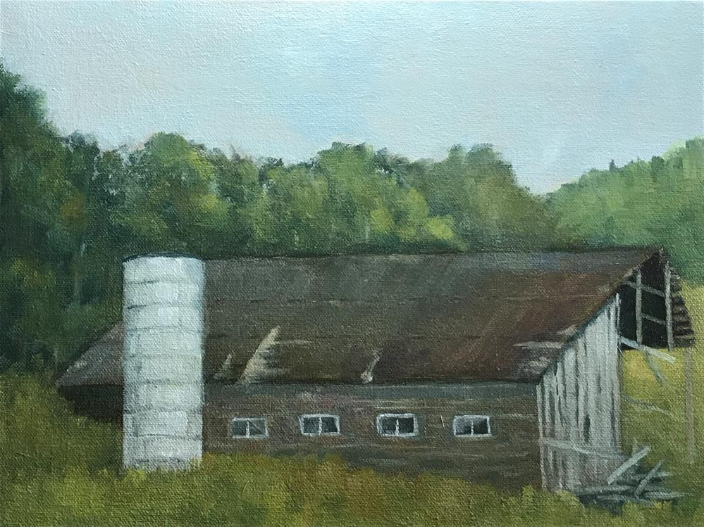"""old broken down barn"" original fine art by Betty Argiros"