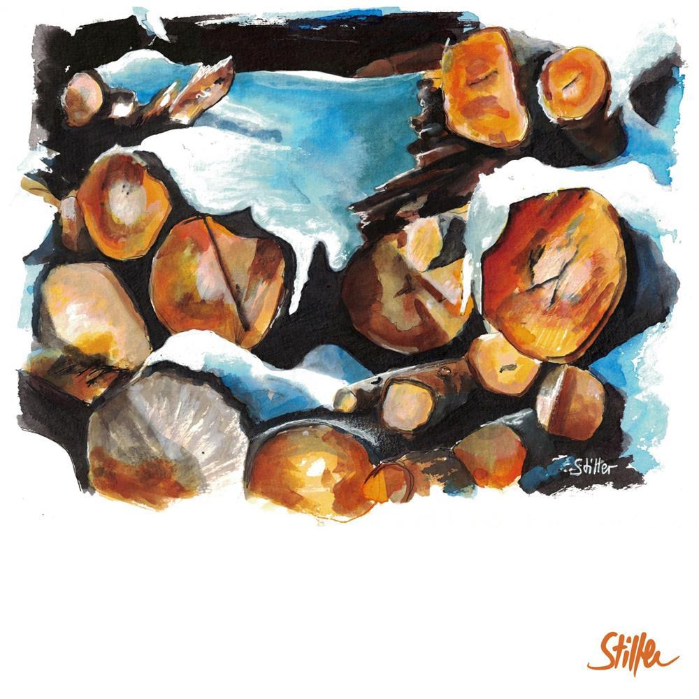 """3422 Wood Staples Two"" original fine art by Dietmar Stiller"