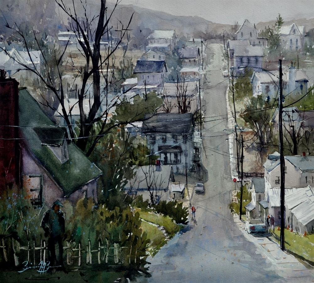 """Ridge Street"" original fine art by Brienne  Brown"