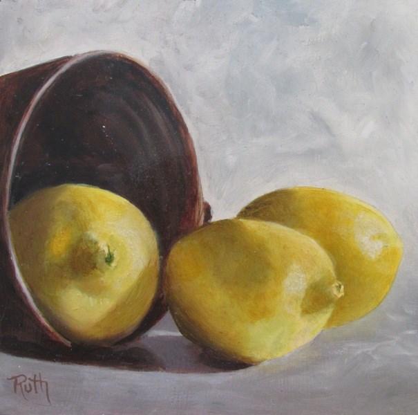 """Let's Make Lemonade"" original fine art by Ruth Stewart"