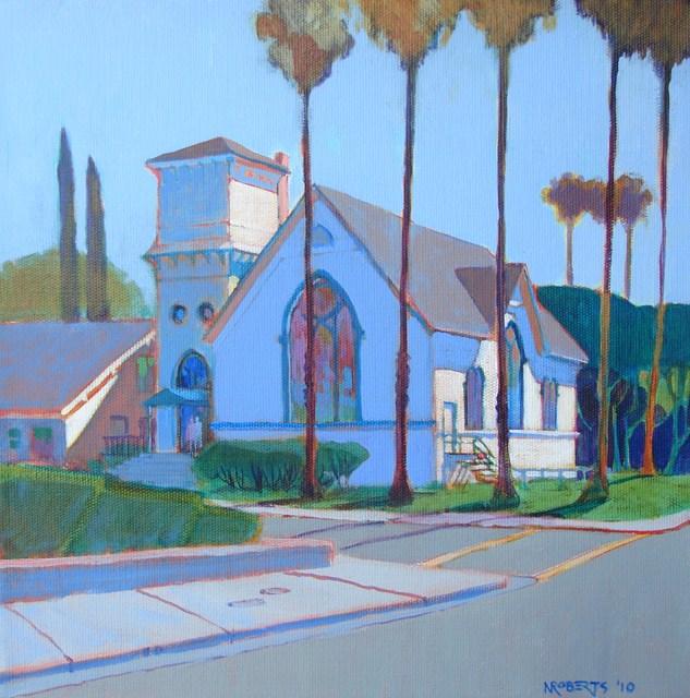 """Old Church on Sixth"" original fine art by Nancy Roberts"