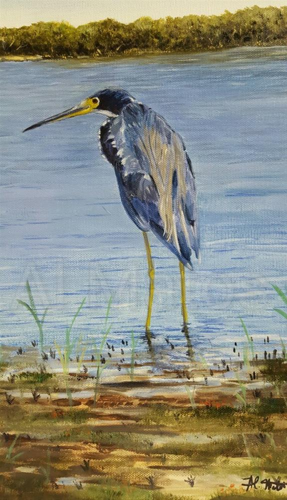 """Blue Heron "" original fine art by Al Matos"