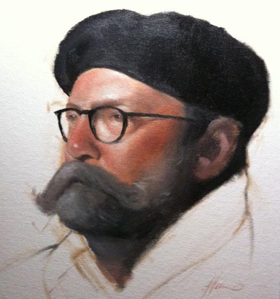 """Portrait Study"" original fine art by Jonathan Aller"