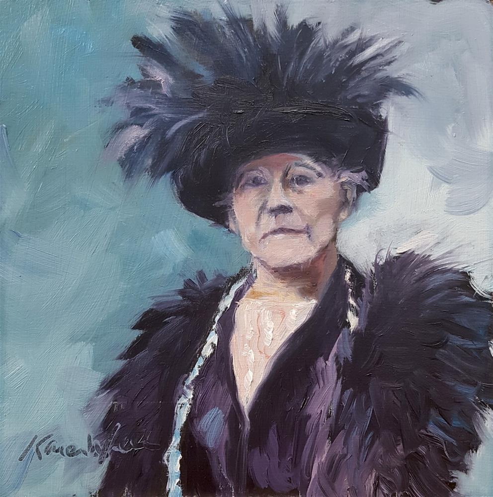 """""""Mary Cassatt"""" original fine art by Karen Weber"""