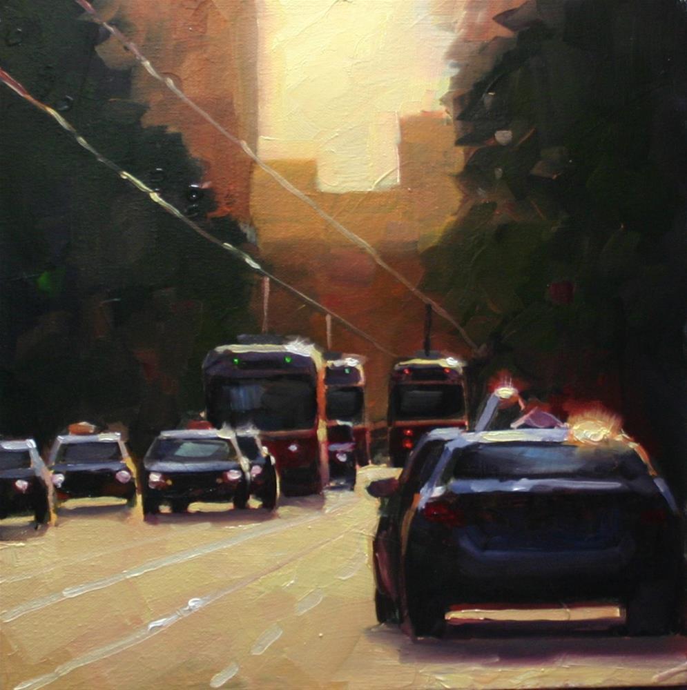 """Afternoon Glare, Toronto"" original fine art by Catherine Jeffrey"