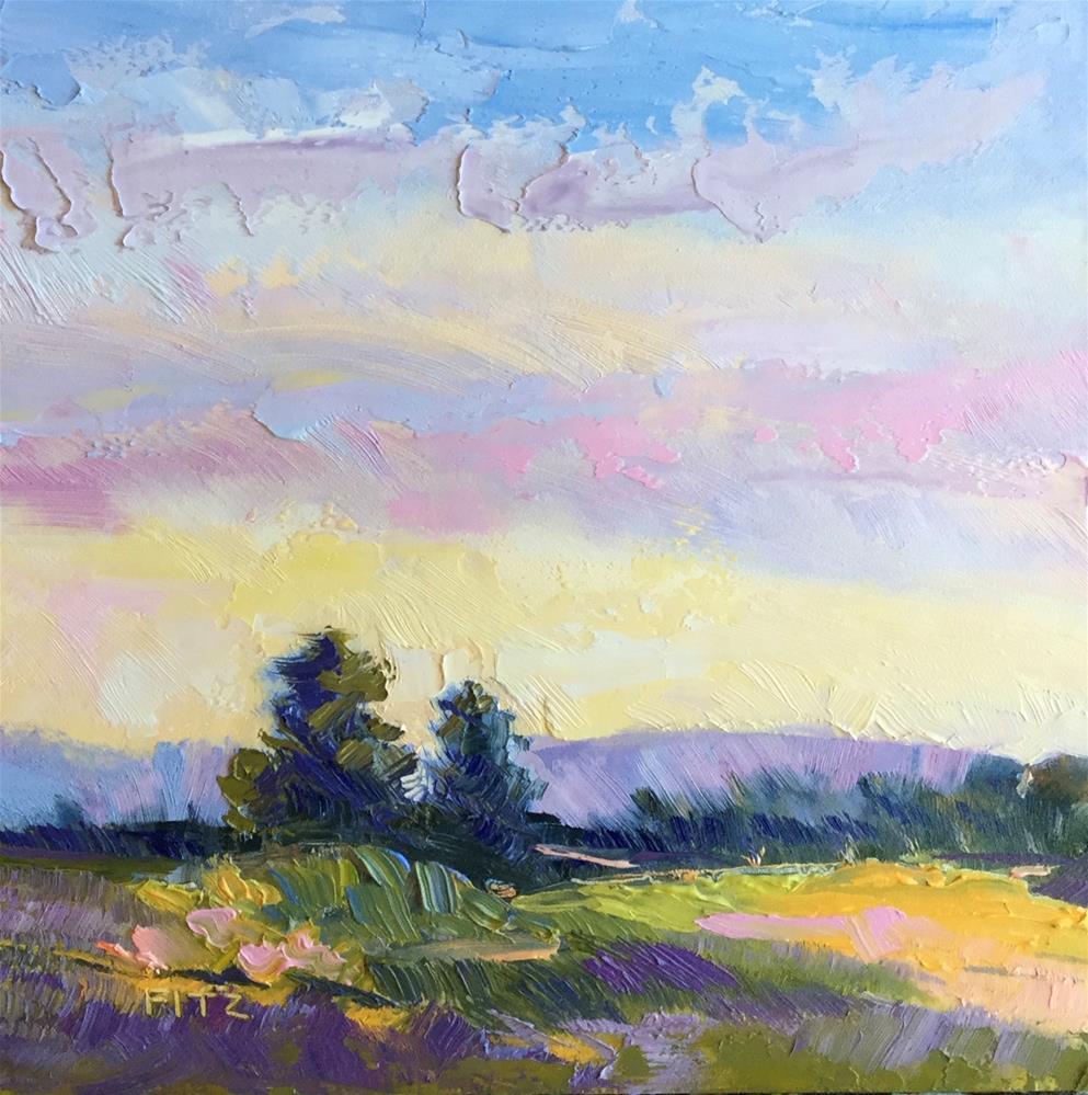 """Yellow Field"" original fine art by Charlotte Fitzgerald"
