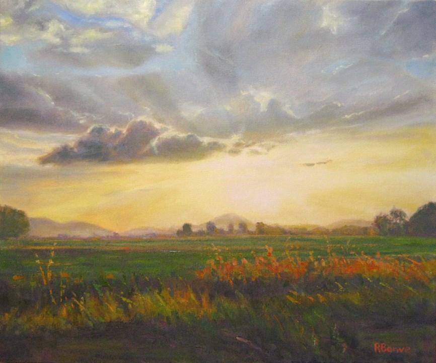 """Glimpse"" original fine art by Robie Benve"